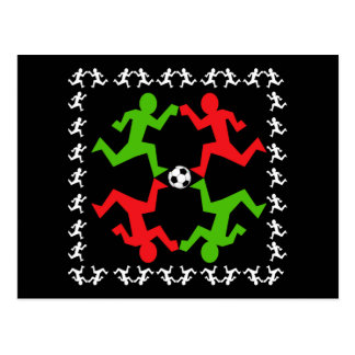 Soccer Players Running to the Ball Pattern Postcard