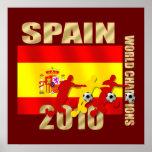 Soccer players Spain 2010 Bend it Futbol Art Posters