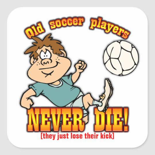 Soccer Players Square Sticker
