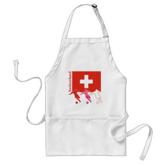 Soccer Players - Switzerland Apron