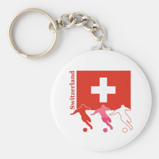 Soccer Players - Switzerland Keychains