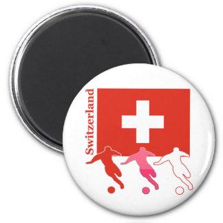 Soccer Players - Switzerland Refrigerator Magnet