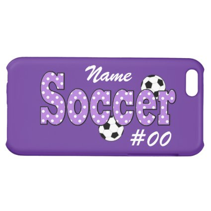 Soccer Polka Dots Cover For iPhone 5C