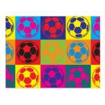 Soccer Pop Art Postcards
