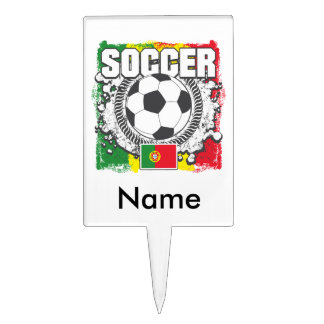Soccer Portugal Cake Toppers