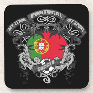 Soccer Portugal Beverage Coasters