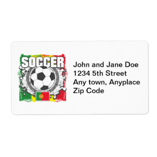 Soccer Portugal Shipping Label