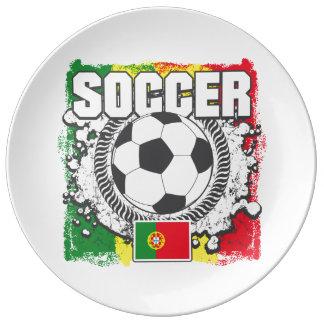 Soccer Portugal Porcelain Plates