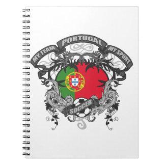 Soccer Portugal Spiral Notebook
