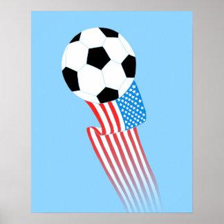 Soccer Poster: Blue USA Poster