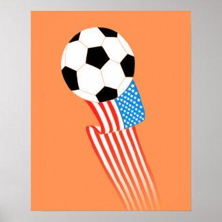 Soccer Poster: Orange USA Poster