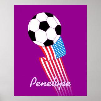 Soccer Poster Purple Custom