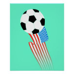 Soccer Poster: Turquoise USA Poster