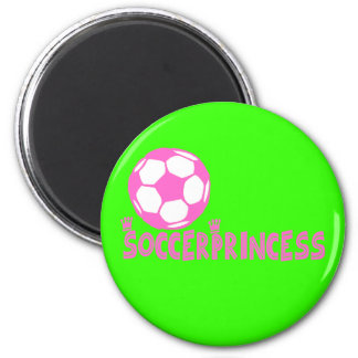 Soccer Princess 2 side 2 Inch Round Magnet