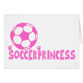 Soccer Princess 2 side Greeting Card
