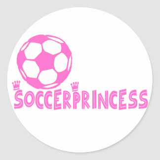 Soccer Princess 2 side Classic Round Sticker