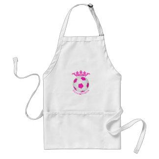 Soccer Princess, Pink Soccer ball Adult Apron
