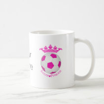 Soccer Princess, Pink Soccer ball Coffee Mug
