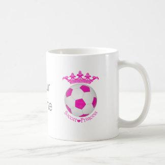 Soccer Princess, Pink Soccer ball Coffee Mug