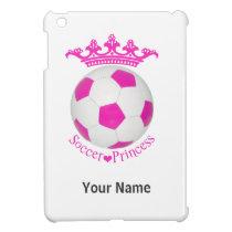 Soccer Princess, Pink Soccer ball iPad Mini Cover