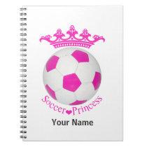 Soccer Princess, Pink Soccer ball Notebook