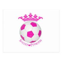 Soccer Princess, Pink Soccer ball Postcard