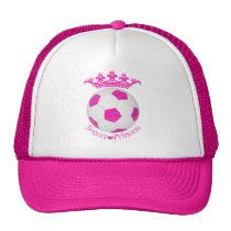 Soccer Princess, Pink Soccer ball Trucker Hat