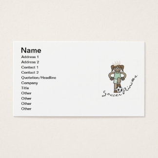 Soccer Princess T-shirts and Gifts Business Card