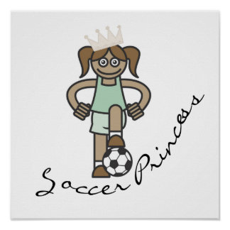 Soccer Princess T-shirts and Gifts Poster