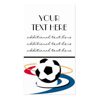 Soccer Pro Double-Sided Standard Business Cards (Pack Of 100)