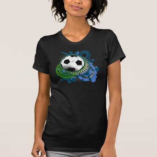Soccer Punk Circles Blue T-Shirt