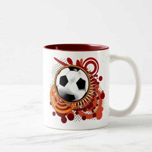 Soccer Punk Circles Red Mug