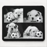 """Soccer Puppies"" English Bulldog Collage Mousepads"