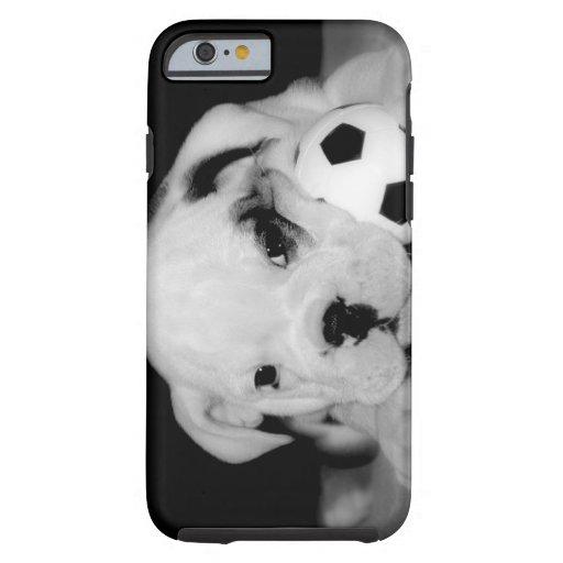 """Soccer Puppy"" English Bulldog iPhone 6 Case"