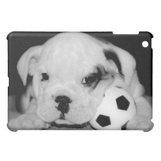 """""""Soccer Puppy"""" English Bulldog iPad Mini Cases"""