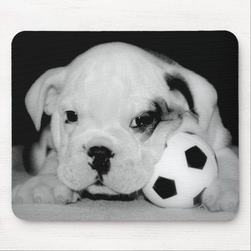 """Soccer Puppy"" English Bulldog Mouse Pad"