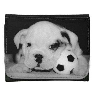 """Soccer Puppy"" English Bulldog Wallets"
