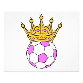 "soccer queen or soccer princess 4.5"" x 5.6"" flyer"