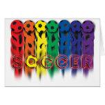 Soccer Rainbow Card