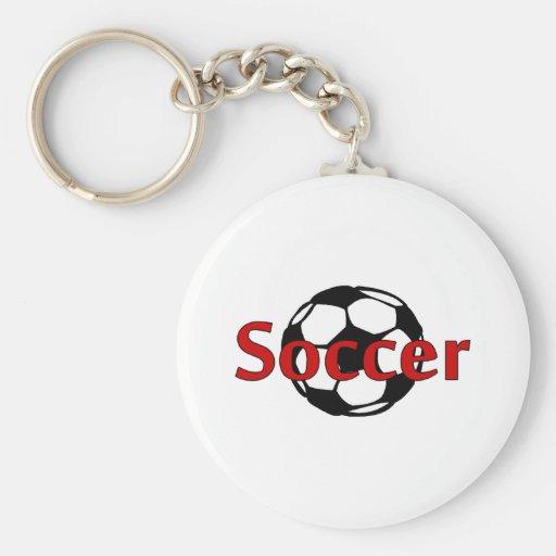 Soccer Rd Blk Keychain