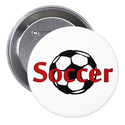 Soccer (Rd Blk) Pin