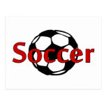 Soccer (Rd Blk) Post Cards