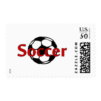 Soccer (Rd Blk) Postage