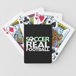 Soccer=Real Football Bicycle Playing Cards