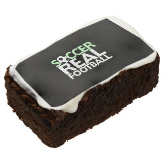 Soccer=Real Football Chocolate Brownie