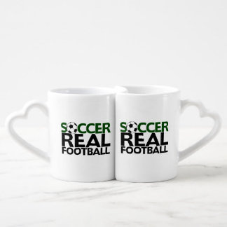 Soccer=Real Football Coffee Mug Set