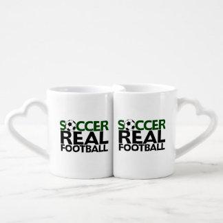 Soccer=Real Football Couples Coffee Mug