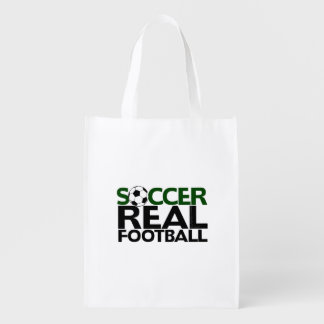 Soccer=Real Football Grocery Bag