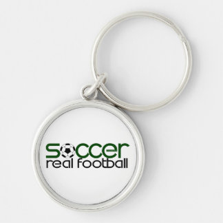 Soccer = Real Football Key Chain