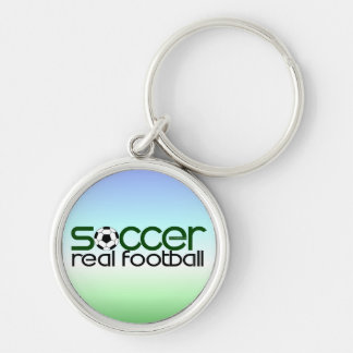 Soccer = Real Football Keychain